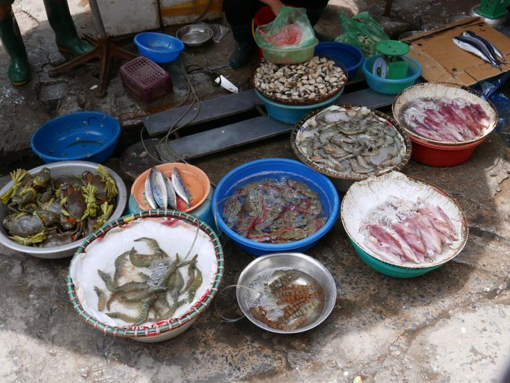"""Keeping fish fresh – I came across this scene down a little alley in Hanoi. The local restaurant was keeping its """"catch of the day"""" live in small dishes by pumping in air. #everybodystreet #lensculture #streettog #hanoi #vietnam #streetfood #food"""