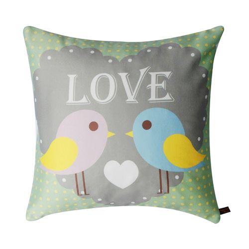 """Cushions and Throws : Munchkin Creative -Cutie Birds """"LOVE""""Cushion"""