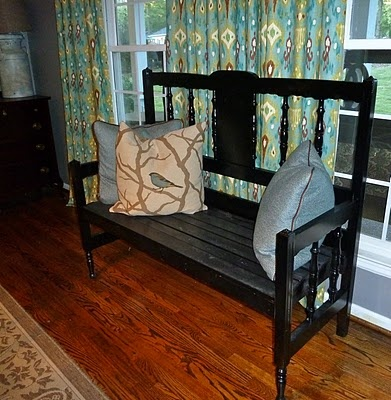 hi everyone i thought iu0027d take a break from christmas stuff and share the most recent headboard bench we did