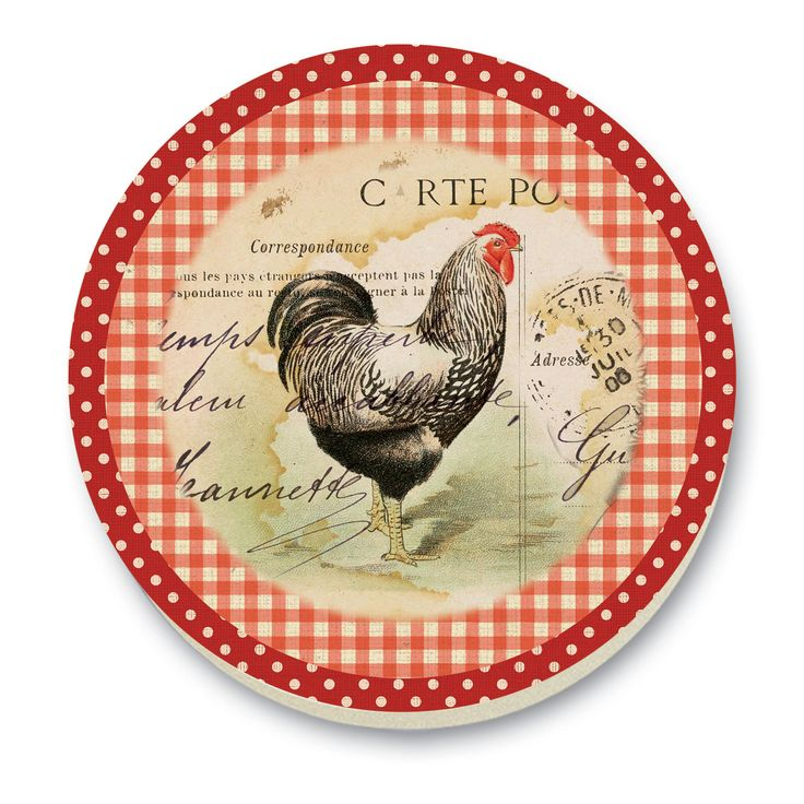 CounterArt Rooster Farm Stone Trivet