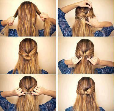 how to make a bow out of your own hair.