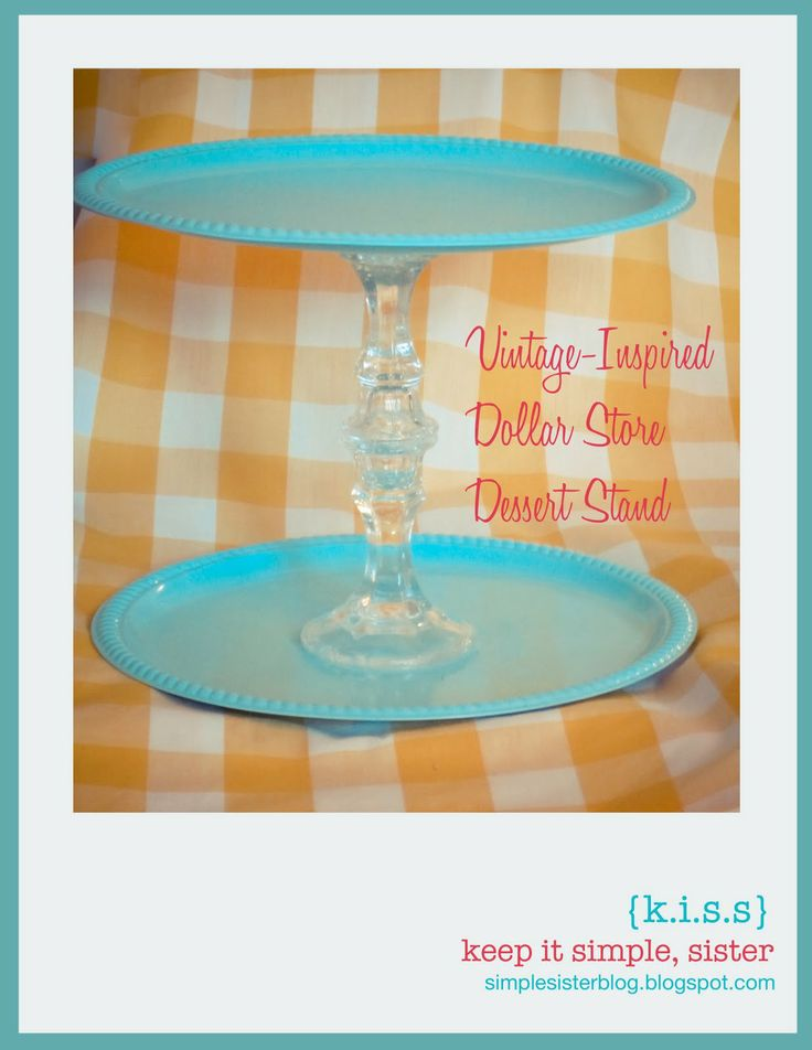 K.I.S.S. {Keep It Simple, Sister}: My Projects. Dollar Store inspired cake stand!!