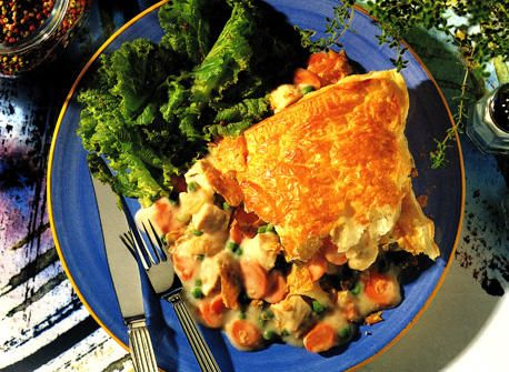 Chicken Pot Pie with Flaky Pastry Crust