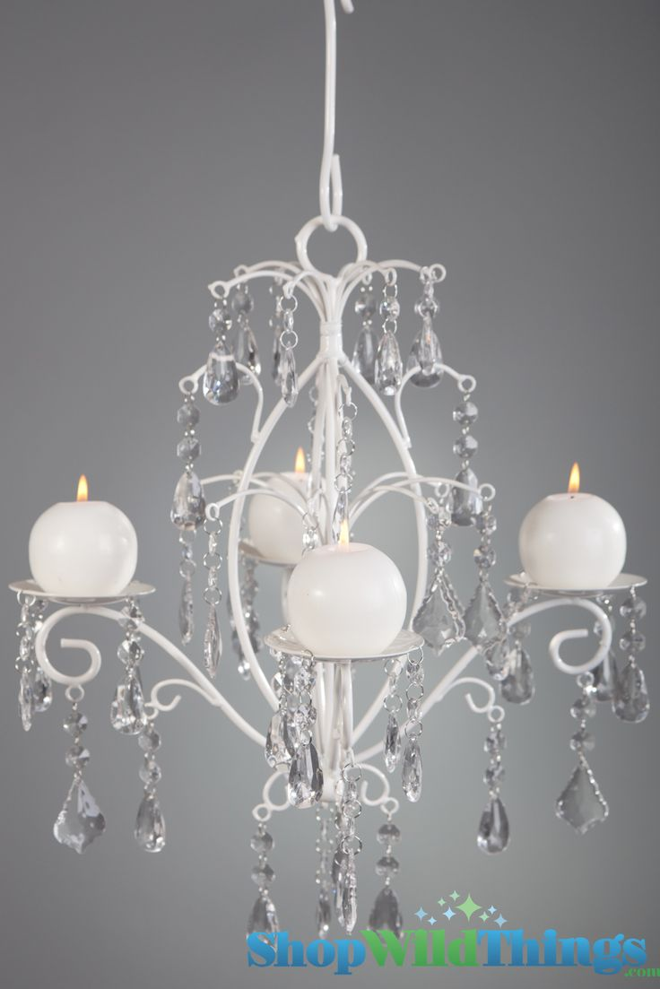 Rachelle Crystal White Hanging Candle Chandelier Medium 43 99 Love Probably Spray