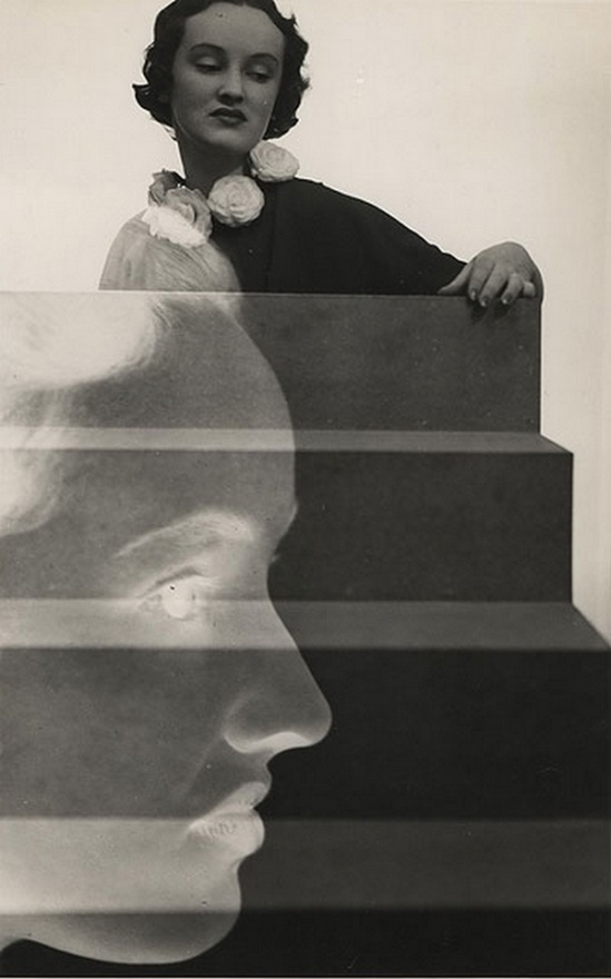 Max Dupain. Woman With Camellia Collar, 1936.