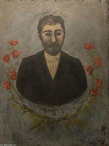 Portrait d un ouvrier de chemin de fer (Misha Meheteli) - (Niko Pirosmani)