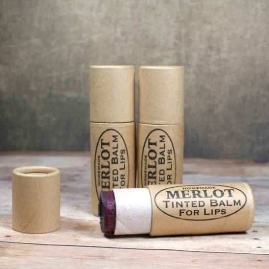 This merlot tinted lip balm recipe creates a super moisturizing tinted lip balm for lips that look and feel fabulous!