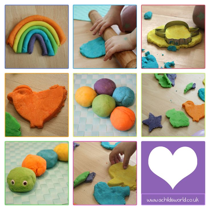Homemade - No Cook - Non Toxic Play dough Recipe   http://achildsworld.co.uk/2015/04/playdough-recipe/