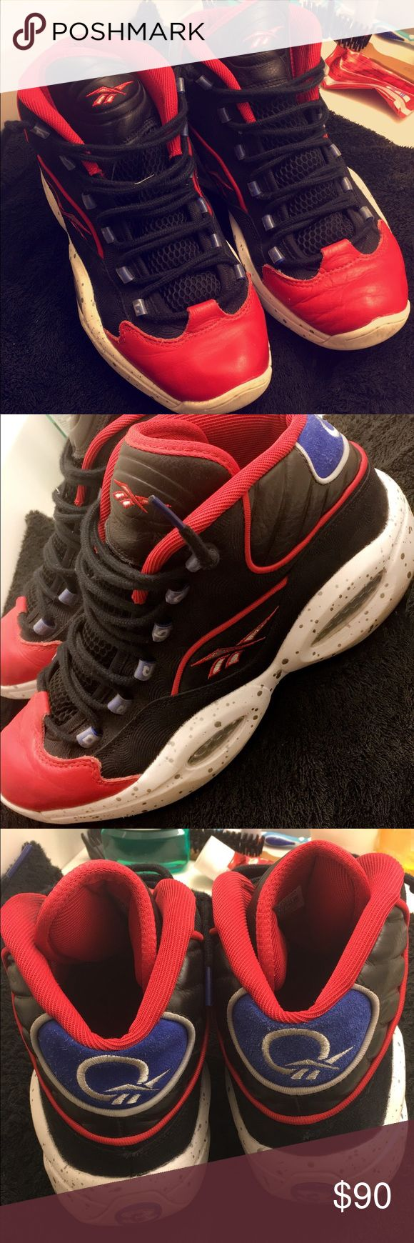 Allen Iverson Questions - First Ballots Barely worn . 9.5/10 condition . SHIPPED NEXT day !! Reebok Shoes Sneakers