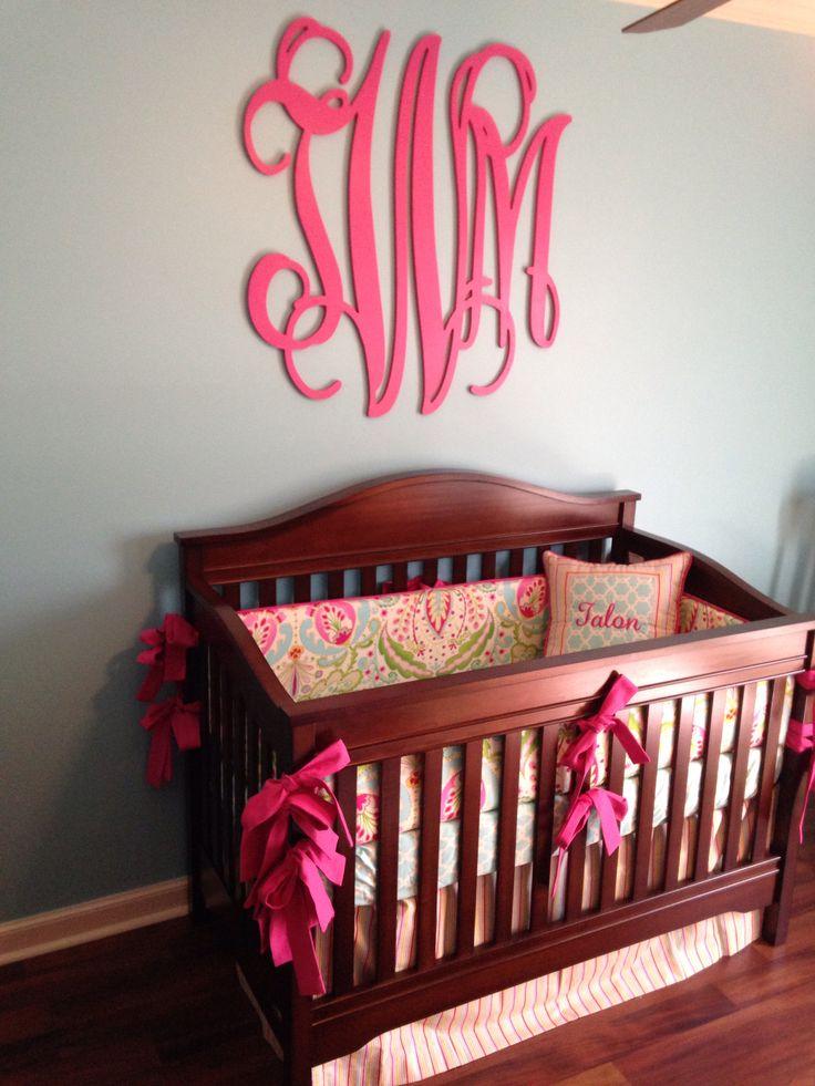 Kumari garden custom baby bedding in baby girl nursery
