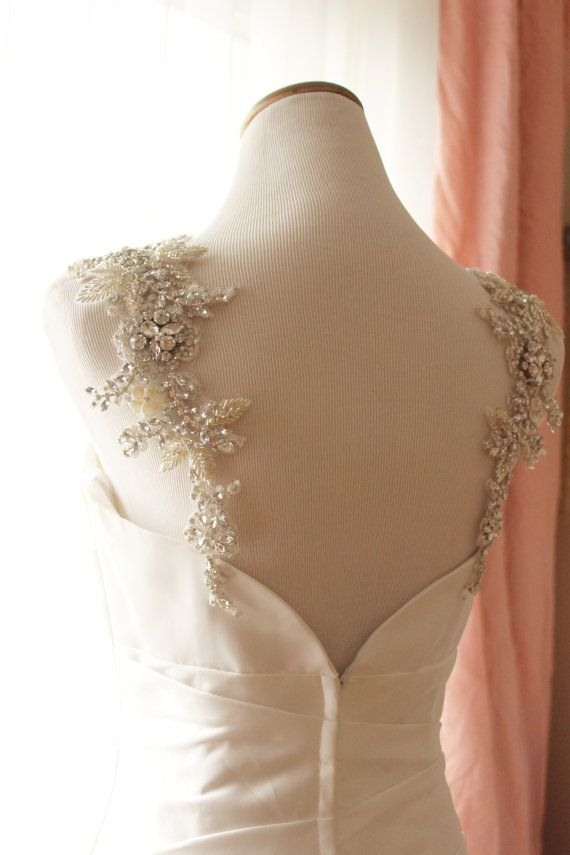 Bridal Crystal and Pearl Statement Dress by abigailgracebridal
