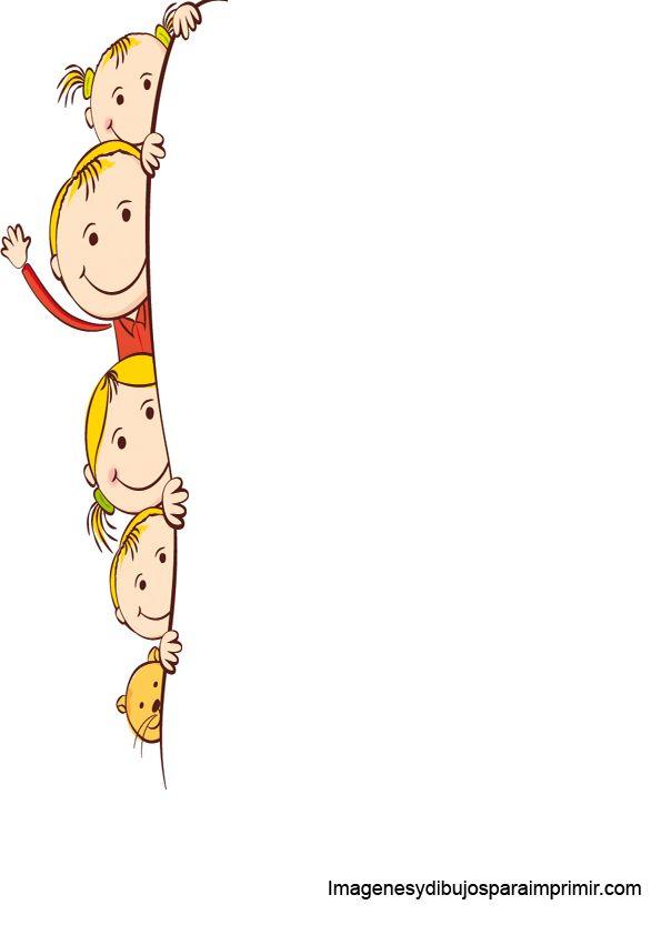 Marcos Para Folios Infantiles Imprimir Imagenes Y Dibujos cole Pinterest