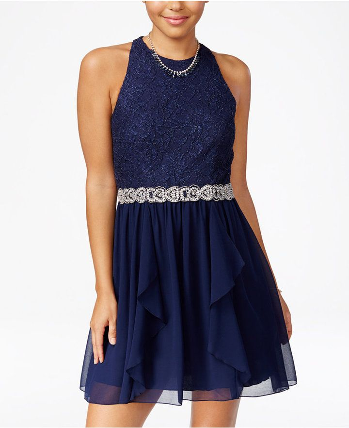 Brown lace dresses for juniors