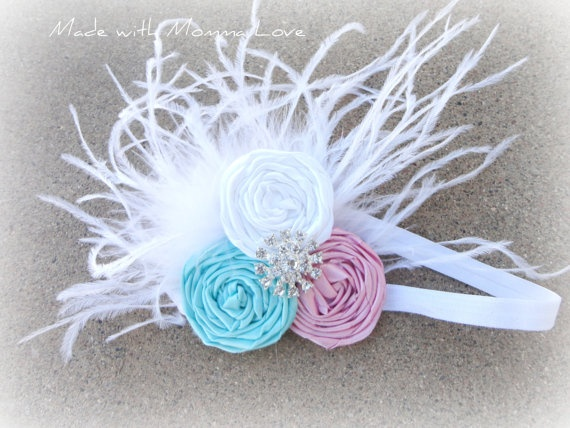 Three Little Pretties TRIO Rosette Headband by MadewithMommaLove, $12.00
