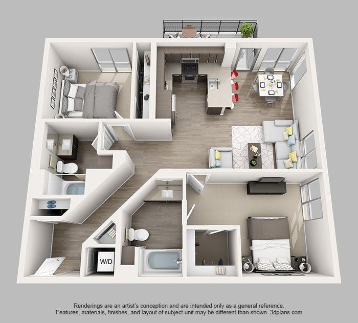 Brea Apartments: 11 Best 3d Floor Plans For Apartments Images On Pinterest