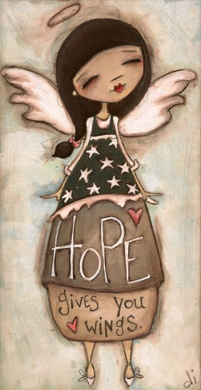Hope Gives You Wings Stretched Canvas   Diane Duda