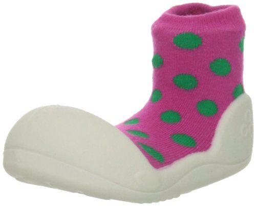 Attipas-Zapatos Primeros Pasos- Polka Dot- Talla M- 109-115mm-T20-Color Rosa