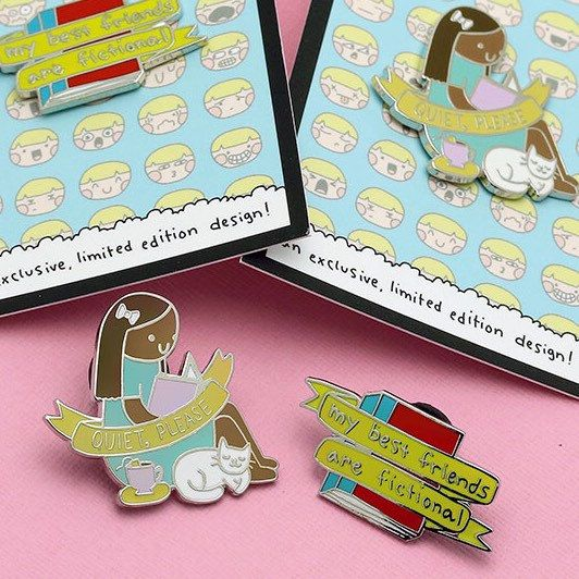 Introvert Doodles pins now live! Only 600 of each available