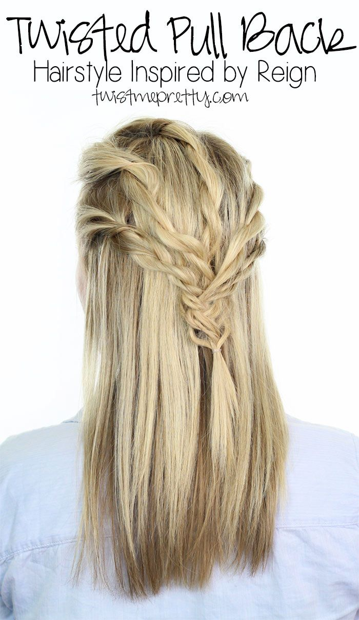This gorgeous twisted pull back hairstyle is super easy to do and fun to wear!  Come checkout the tutorial at twistmepretty.com