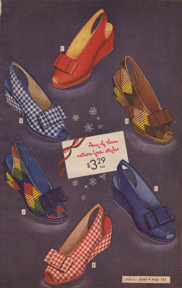 Love/want all of them! I love 1940s shoes!