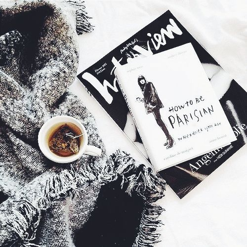The French Bedroom Company Blog | How To: Make Your Home Insta-Worthy. Get your home instagram ready with our top tips and ideas. monochrome flatlay with a black tea and grey scarf ideas
