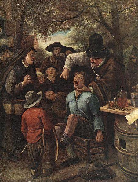 Jan Steen De kiezentrekker, 1651