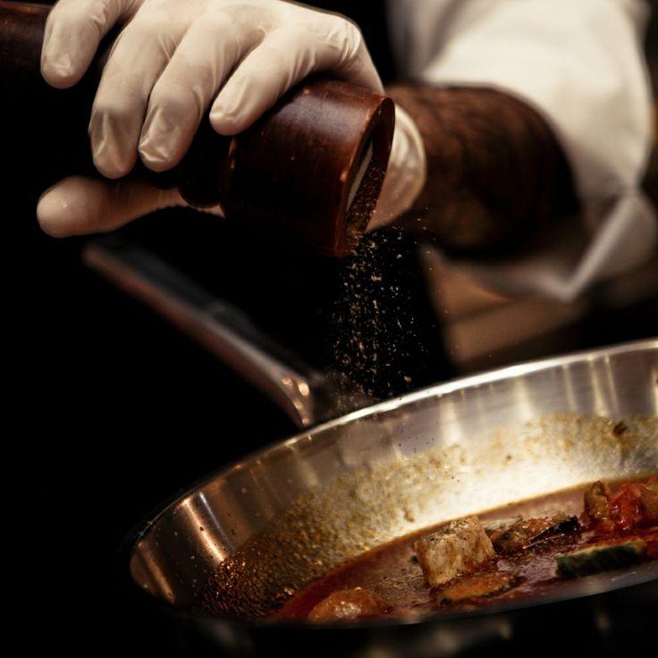 Italian cuisine in action