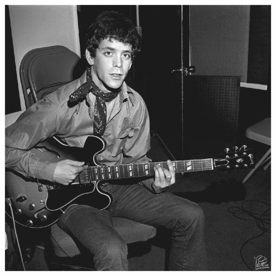 Lou Reed. In his much younger days. He's not going to win a humanitarian award any time soon. His music/words are usually, if not always, found on one of my playlists.