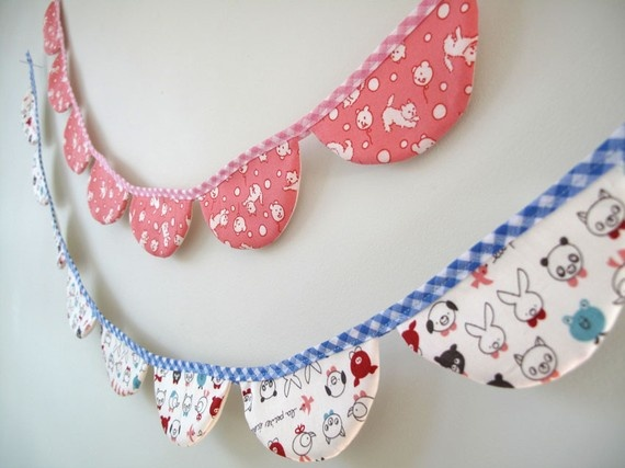 love love love this mini bunting..it looks even cuter in real life! by my friend gemma @ pinchface