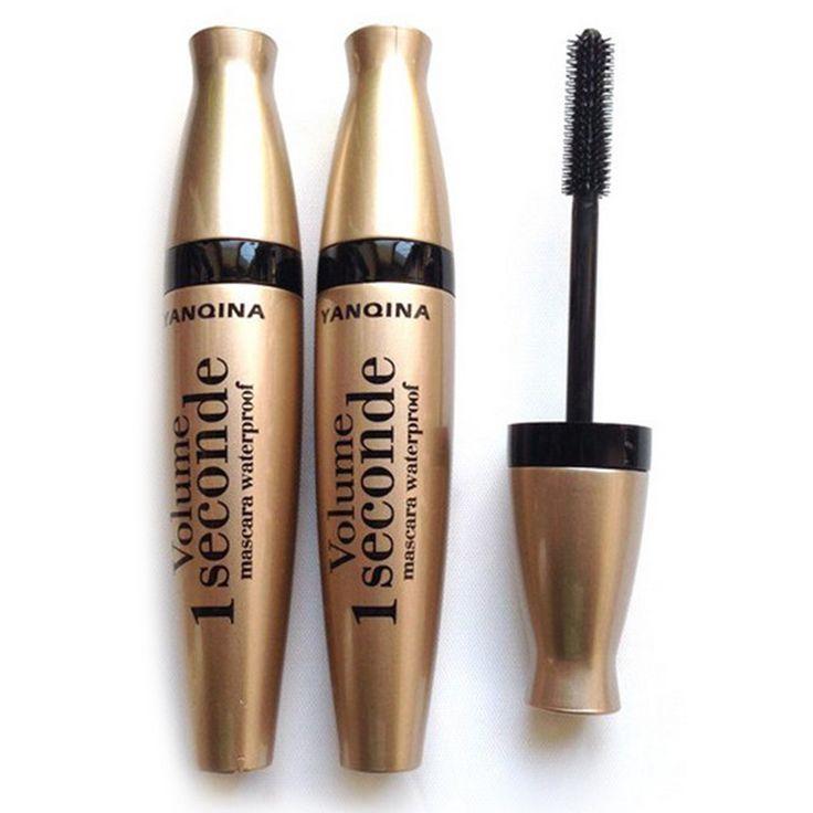 2016 Gold Tube Mascara Eyes Makeup High Quality Beauty Cosmetic Black Liquid Eyeliner Curling Thick Eyes Lengthening Eyelashes