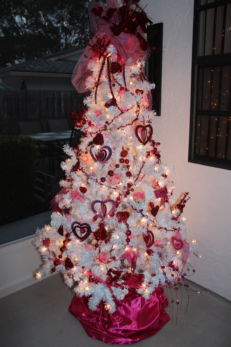 valentines holiday tree never took christmas tree down keeping it up year round just - Year Round Christmas Tree