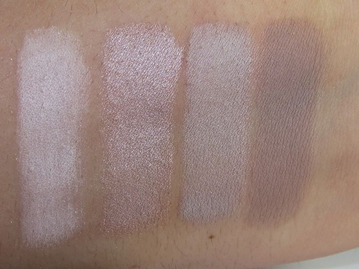 Bare Minerals The Nature of Nudes Ready Eyeshadow Palette Swatches (Chance, Libation, Tranquil, Exquiste)