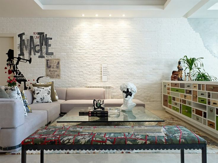 30 White Brick Wall Living Rooms That Inspire Your Design Creativity Part 85