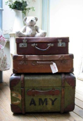 French suitcases