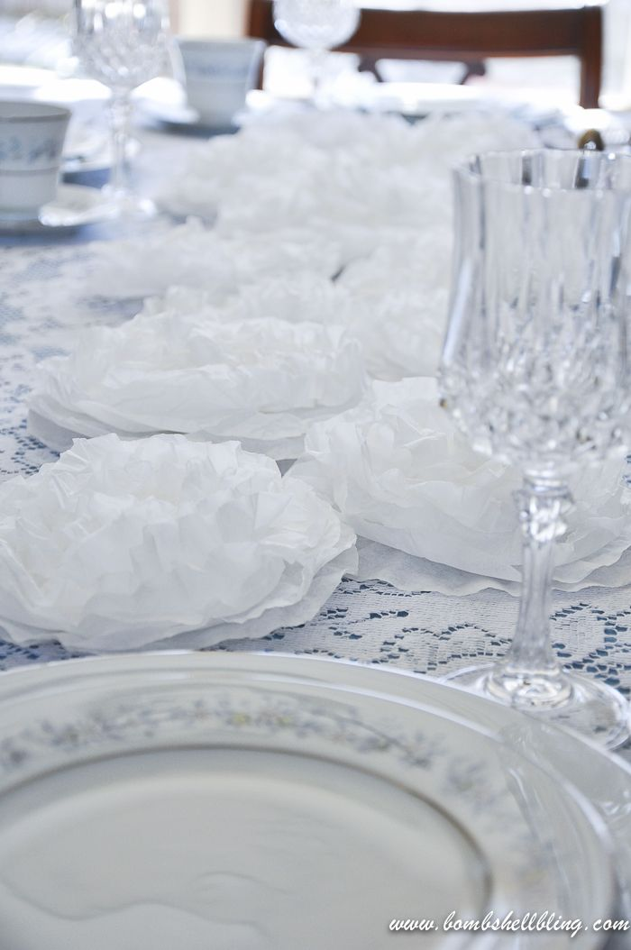Coffee Filter Flower Centerpieces are a perfect, affordable solution for weddings!