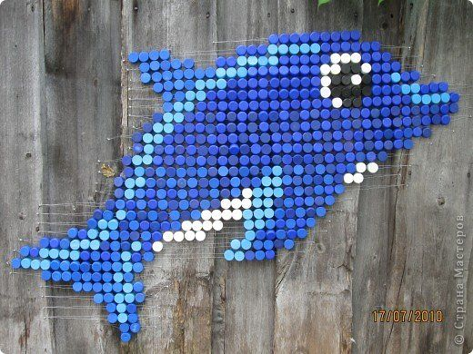 Картина панно рисунок Мозаика Панно из пробок Материал бросовый фото 6