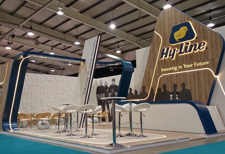 Exhibitions-stand. LED light strip is great detail!