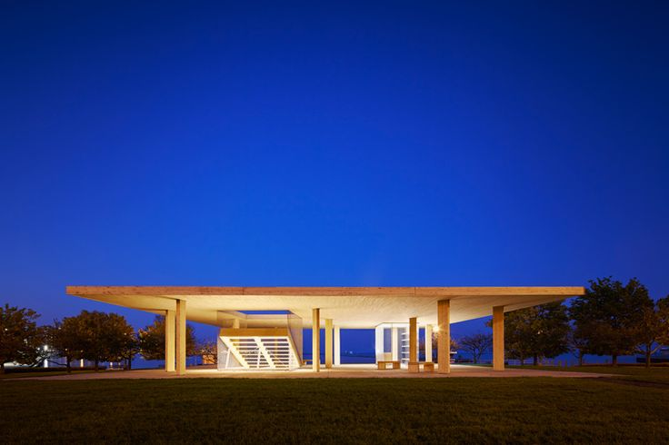 lakefront kiosk chicago horizon ultramoderne chicago architecture biennial designboom