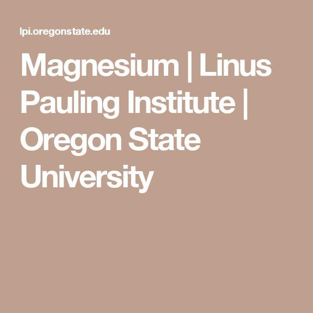 Magnesium | Linus Pauling Institute | Oregon State University