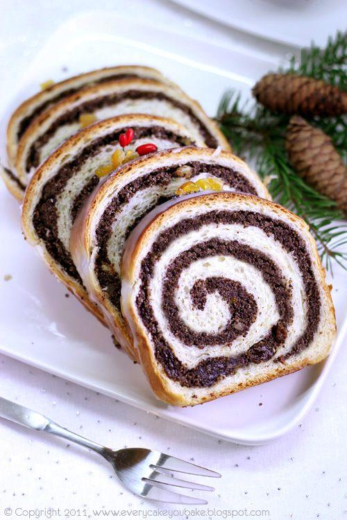 Every Cake You Bake: Świąteczna strucla makowa - drożdżowa i krucho-drożdżowa