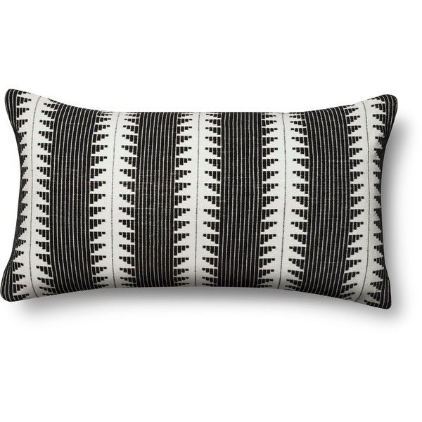 Global Oversized Lumbar Pillow Black – Threshold ($20) via Polyvore featuring home, home decor, throw pillows, pillow, target, target toss pillows, target accent pillows, black home decor, target home decor and black home accessories