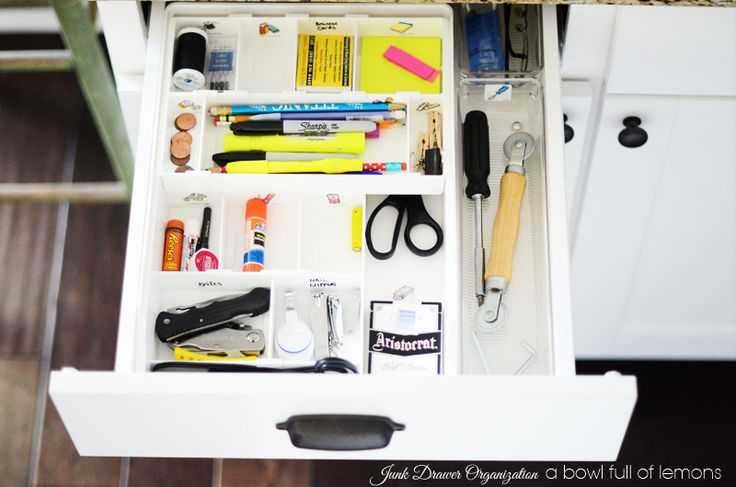"Mini Organizing Challenge ""Junk Drawer"" - A Bowl Full of Lemons"
