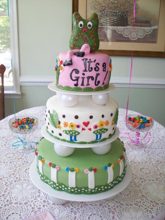 baby shower cakes   Pottey Barn Owl Baby Shower Cake