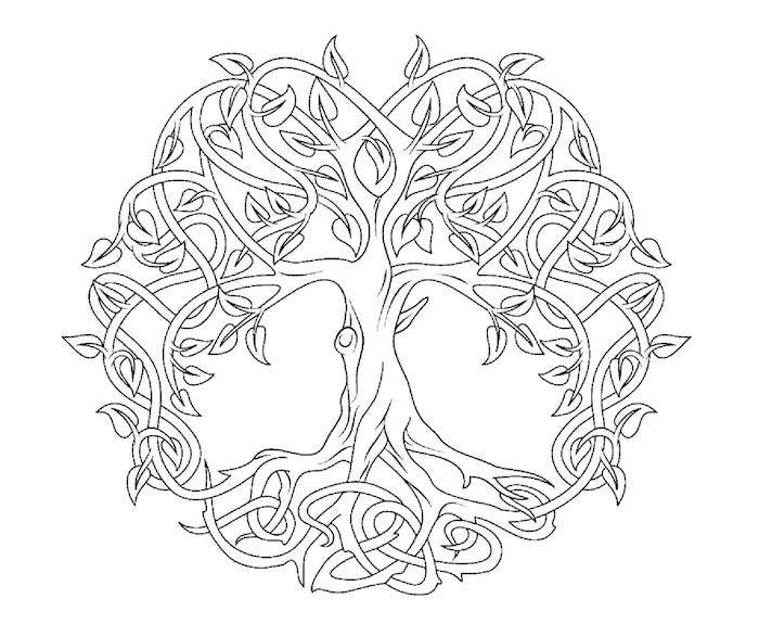 1001 Coole Mandalas Zum Ausdrucken Und Ausmalen Keltischer Baum Des Lebens Keltischer Baum Mandalas Zum Ausdrucken