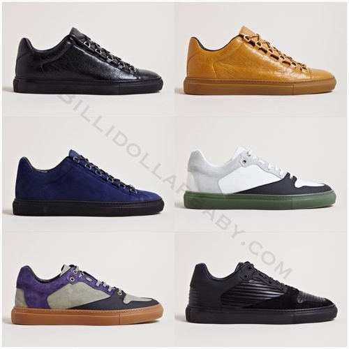 Balenciaga Men's Low Top Sneakers for Spring/Summer 2013 Balenciaga Men's Arena Trainers from SS13 collection in All black. Balenciaga Men's Arena Trainers from SS13 collection in ginger. Balenciaga Men's Arena Trainers from SS13 collection in blue. Balenciaga Men's Contrast Panel Trainers from SS13 collection in white. Balenciaga Men's Contrast Panel Trainers from SS13 collection in purple. Balenciaga Men's Contrast Panel Trainers from SS13 collection in all black.