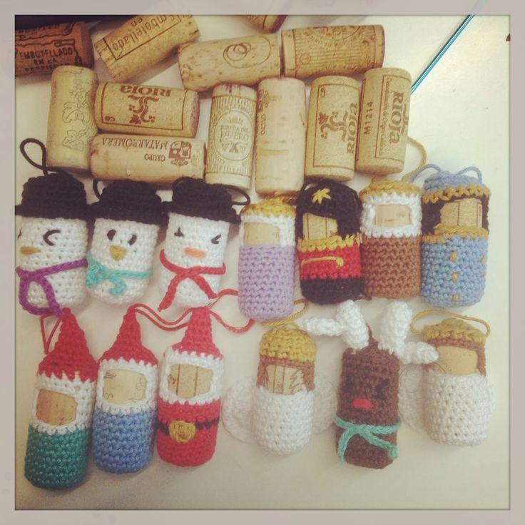 adornos de navidad con corcho, christmas ornament wine cork