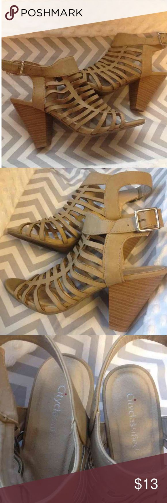 Tan booties Tan bootie great condition no wear besides bottom. Has buckle. Cost me $40 from stellaraes.com . Just want them gone this is my lowest price. Size 8 and fit true to size. stellaraes Shoes Ankle Boots & Booties