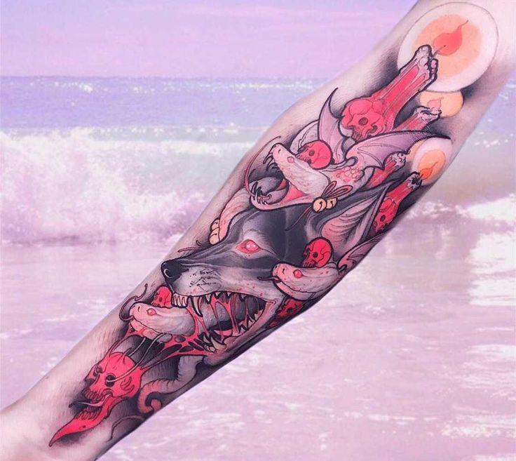 Une sélection desmagnifiques tatouages de l'artiste italien Brando Chiesa, basé à Florence, qui imagine des animaux fantastiques inspirés par la mythologi