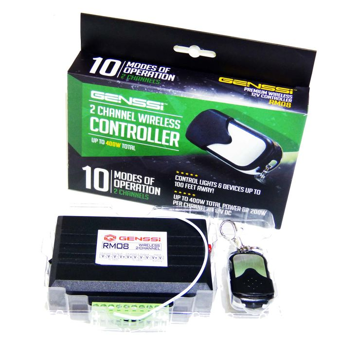 Turn on and off products that run on 12V. Best for LED lighting. Also has flash patterns such as found in Police cars.