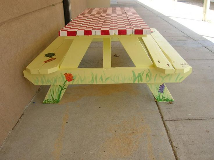 17 best images about picnic table paint ideas on pinterest park in class art projects and. Black Bedroom Furniture Sets. Home Design Ideas
